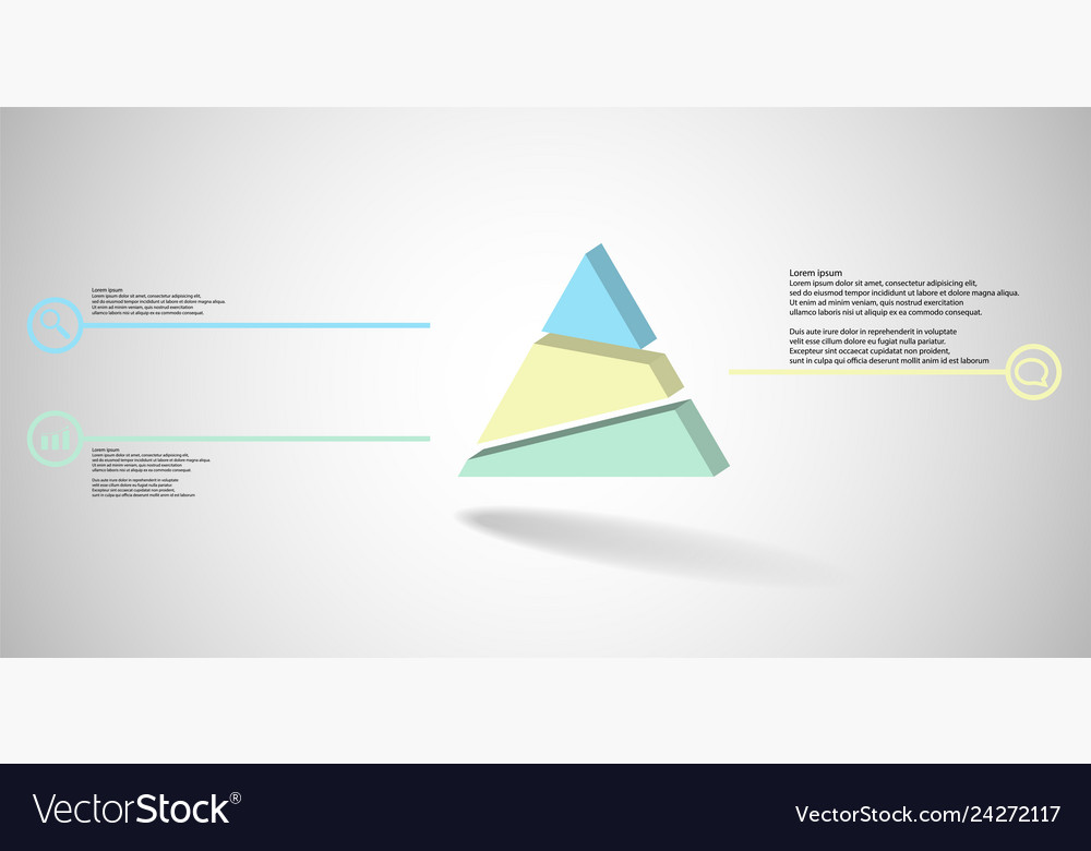 3d infographic template with embossed triangle