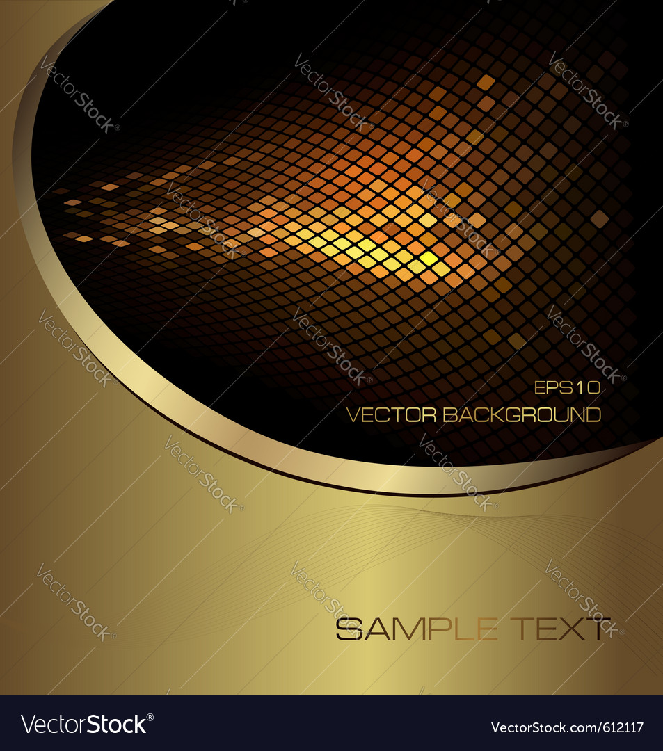 Abstract gold business background