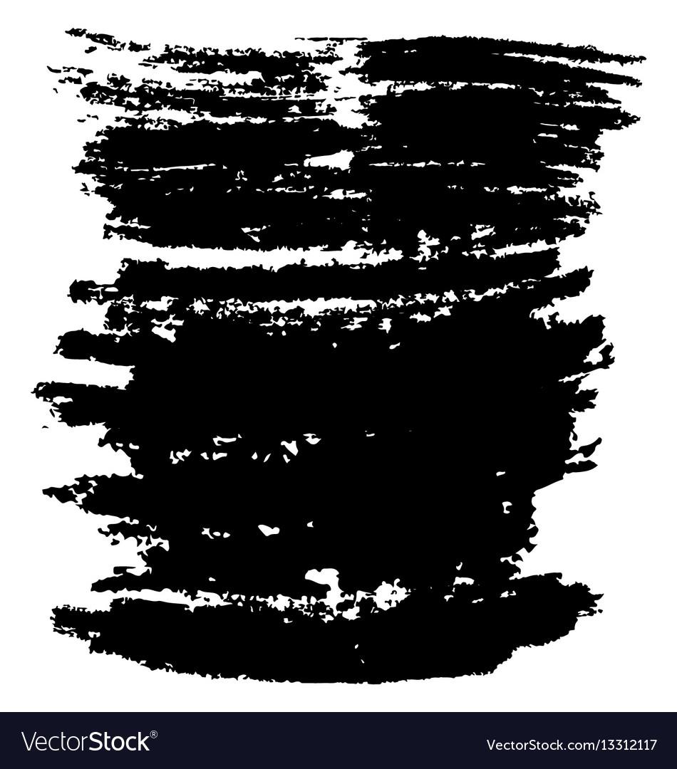 Black brush stroke
