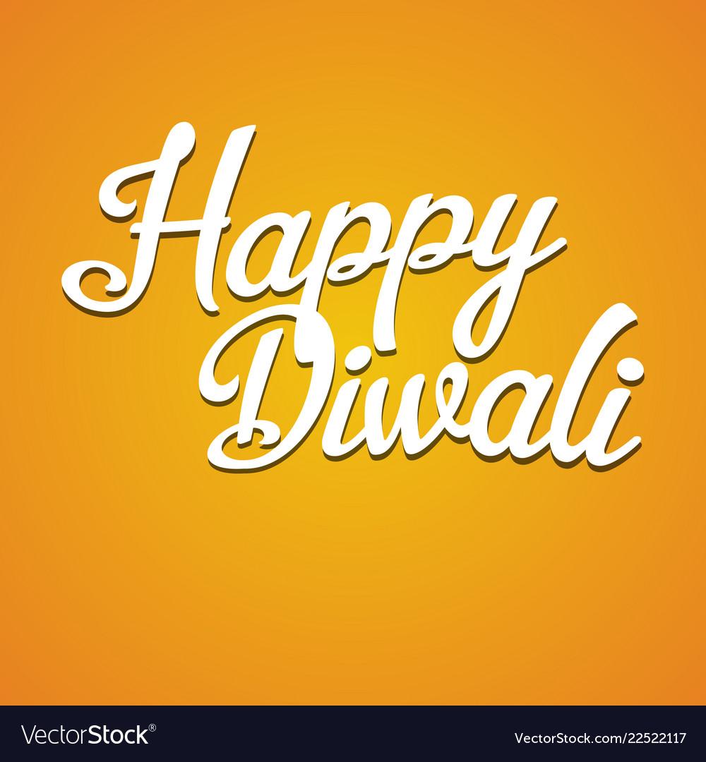 Happy diwali inscription back