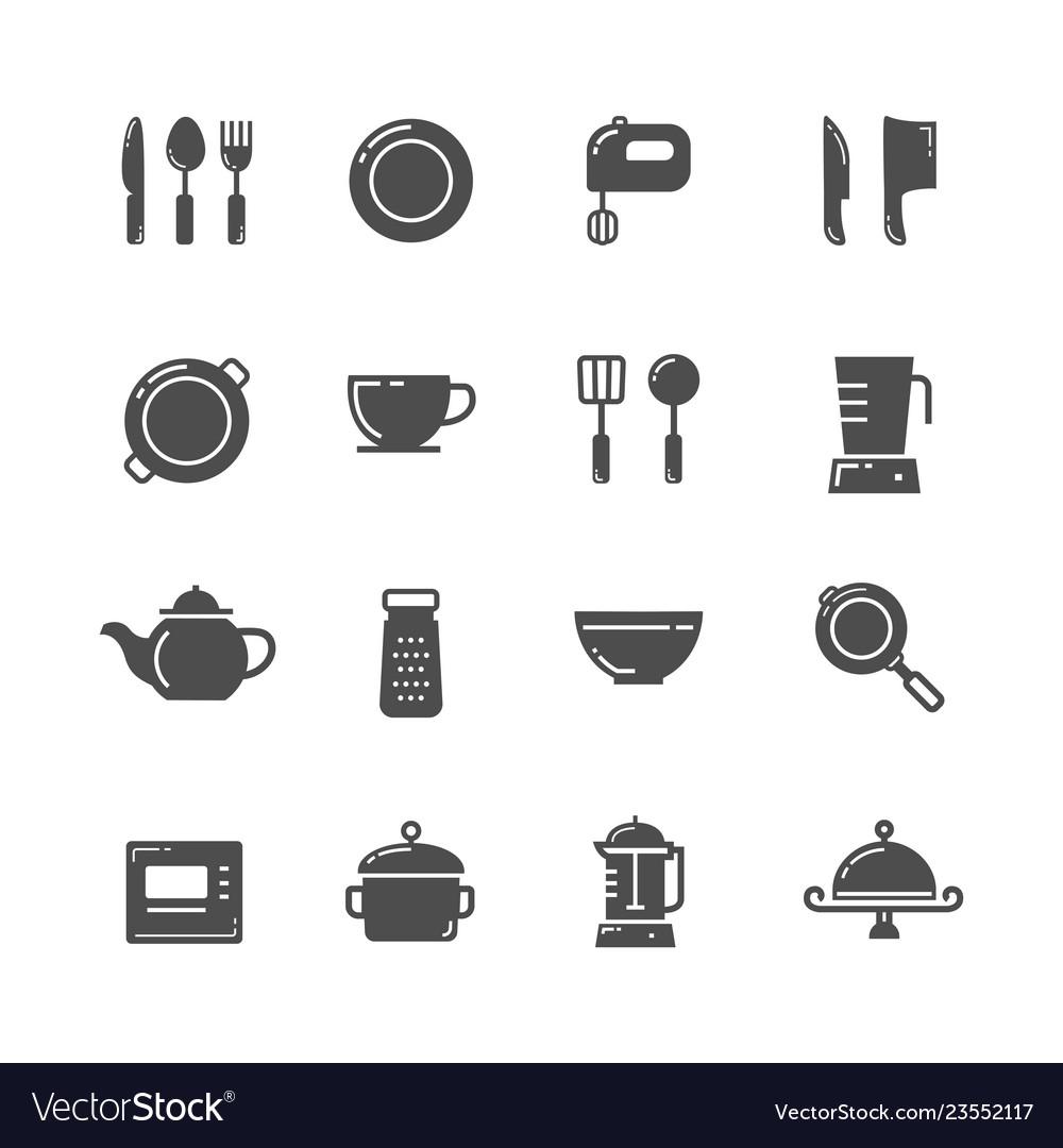 Kitchen icons set image