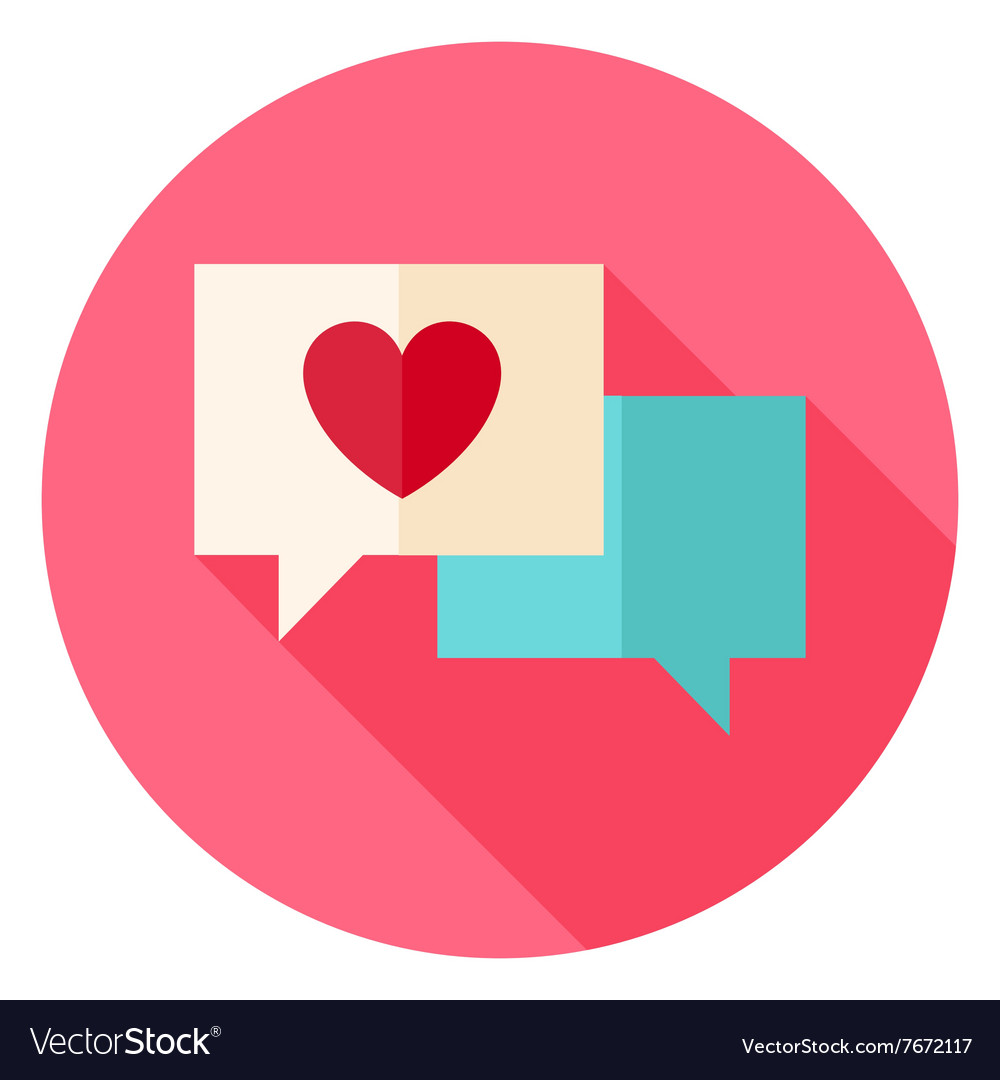 Love Messages With Heart Circle Icon Royalty Free Vector