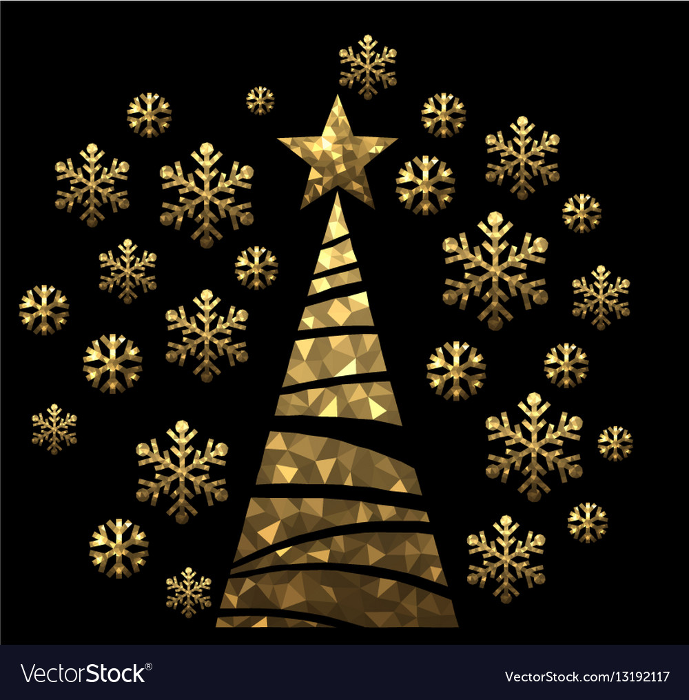 New Year background with Christmas tree vector image