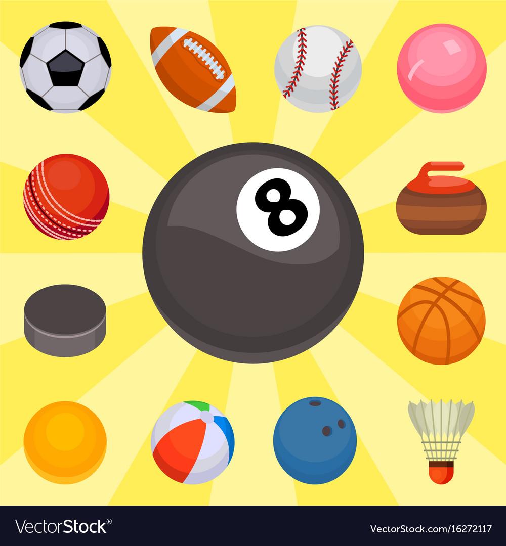 Set of balls isolated tournament win round basket