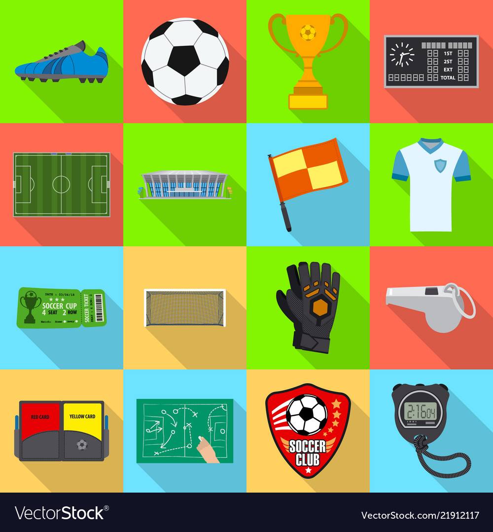 Soccer and gear icon set