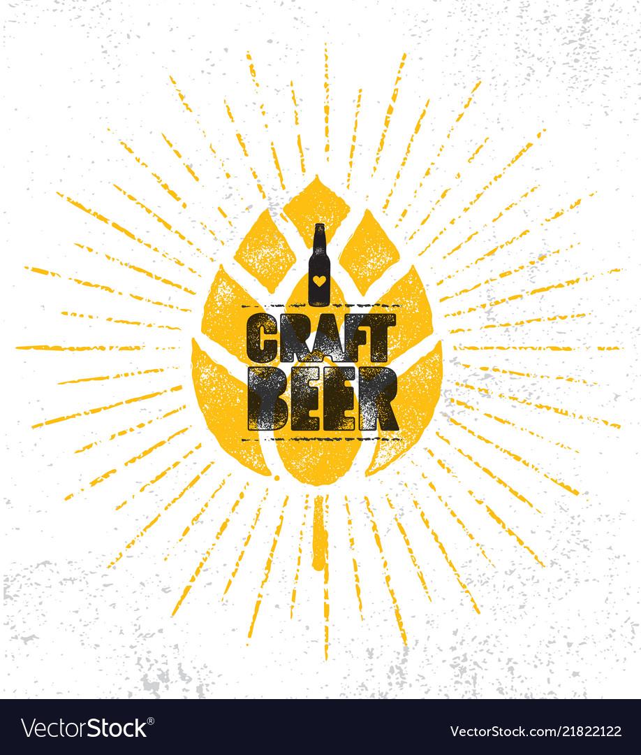 Craft beer brewery artisan creative stamp