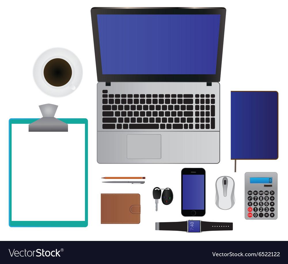 Elements for design Laptop Smartphone Pencil Etc