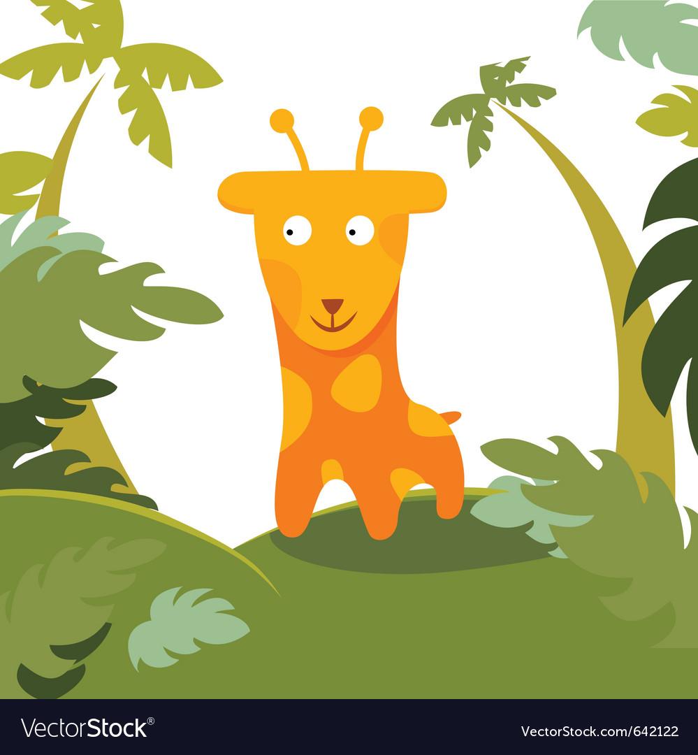 Giraffe in forest