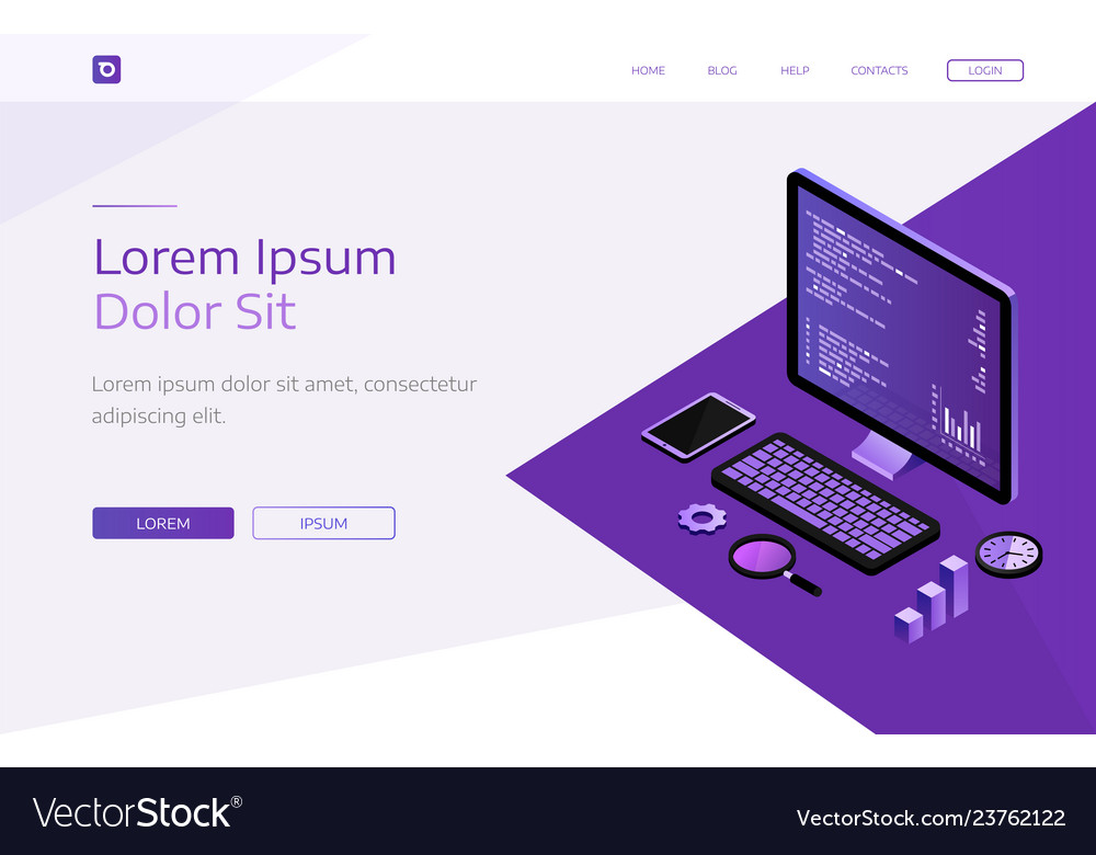 Modern flat design isometric concept of business