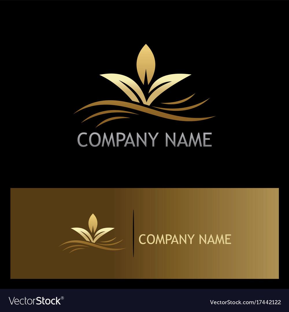 Organic plant gold logo