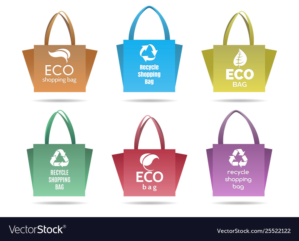 Recycling shopping ecobags set