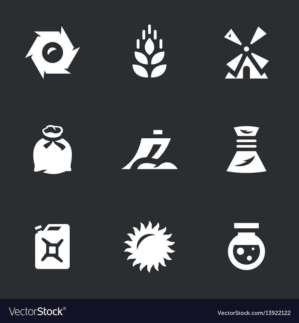 Set of wheat icons