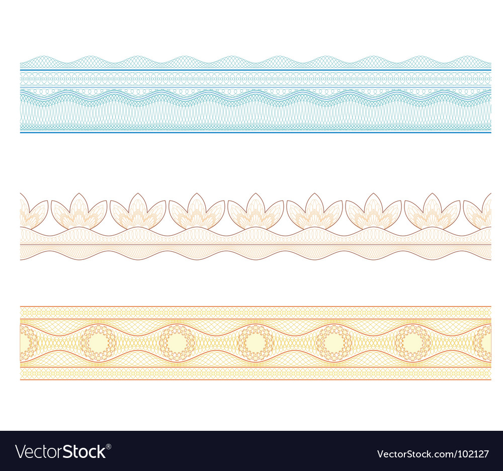 Guilloche borders pattern for currency