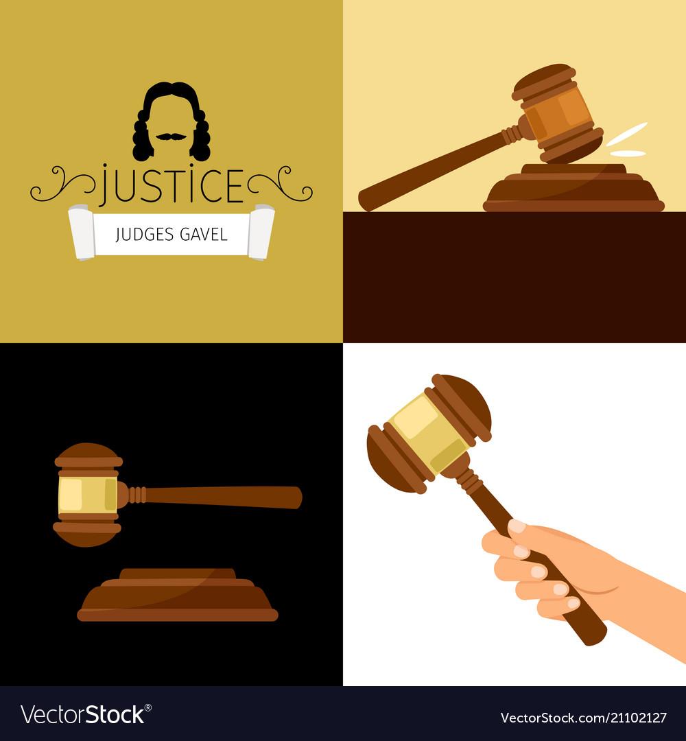 Judge gavel legal hammer cartoon