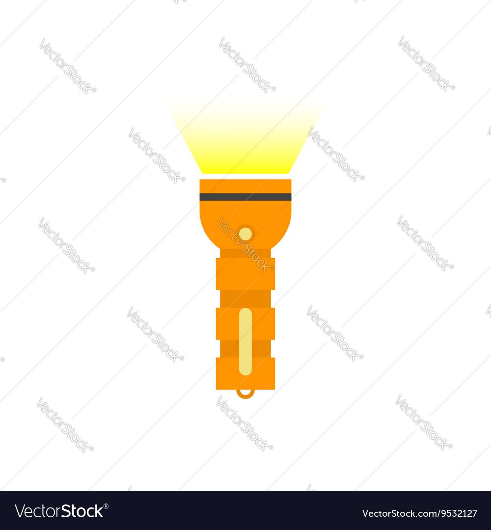 Pocket Flashlight with yellow beam isolated
