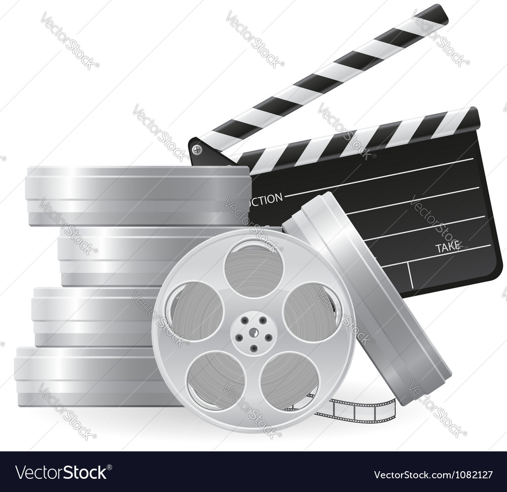 Set icons cinema 01 vector image
