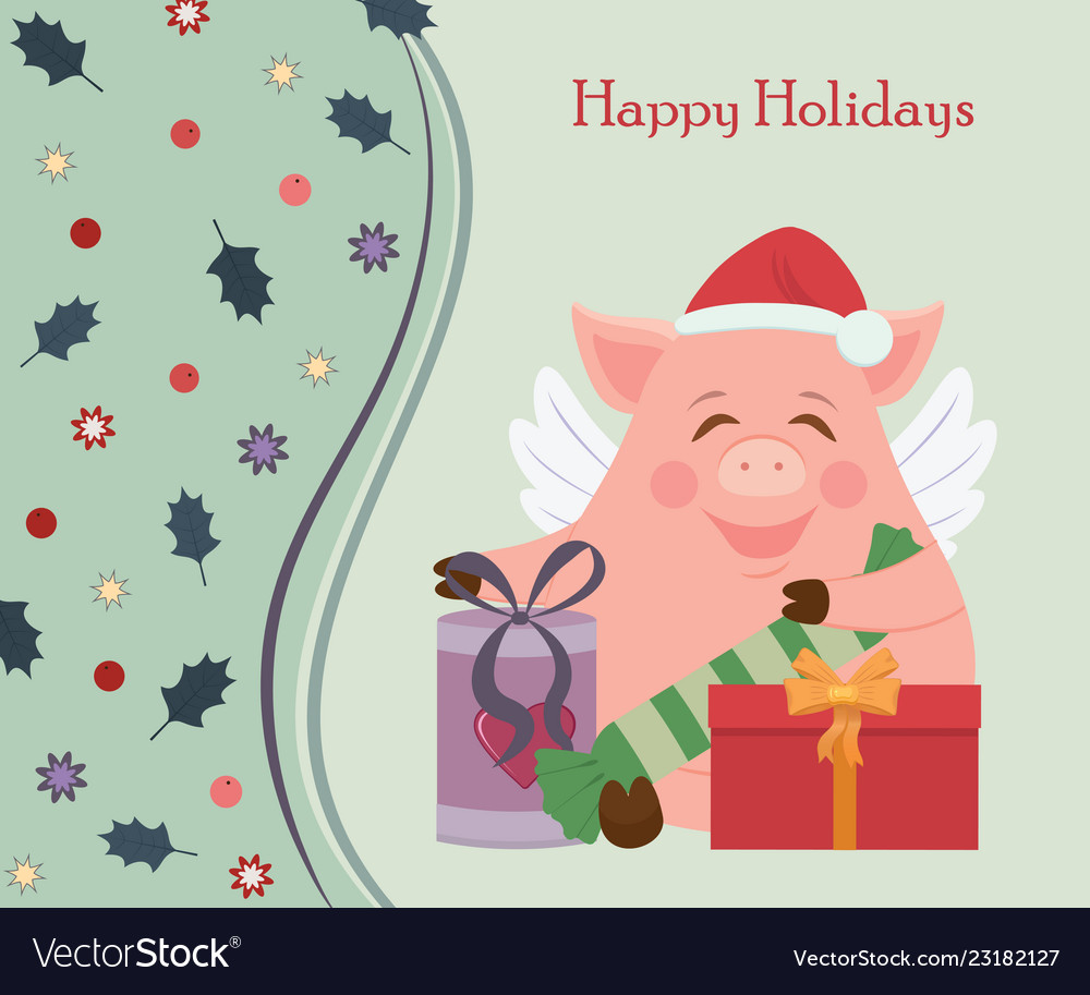 Small funny piggy for new year