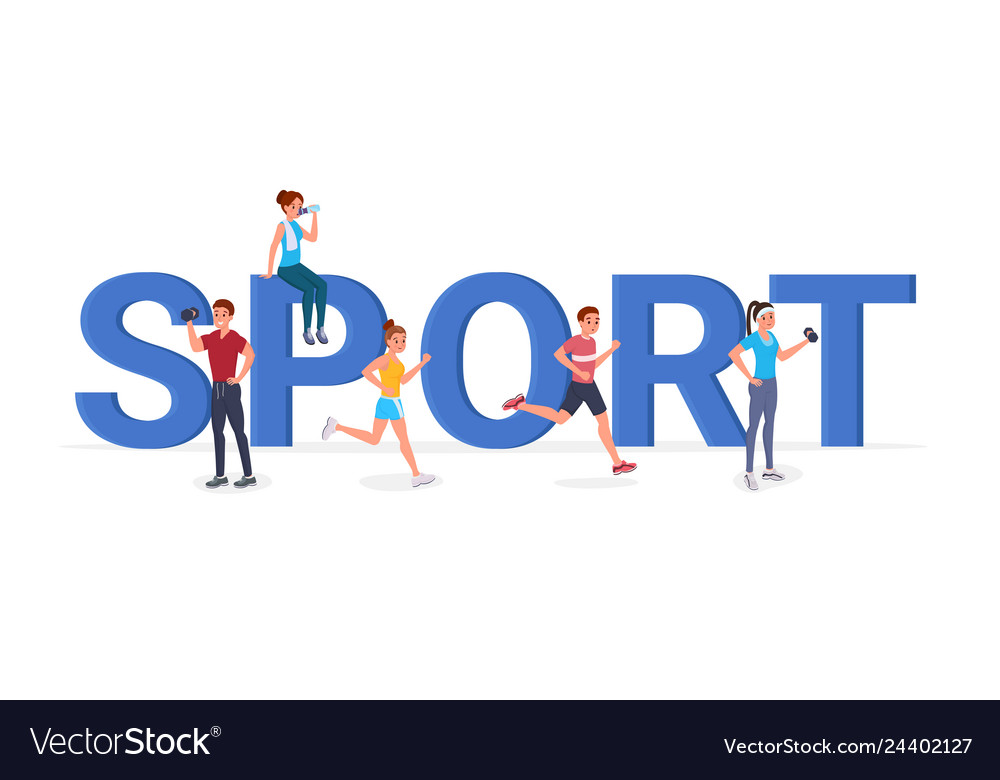 Sport big letters flat