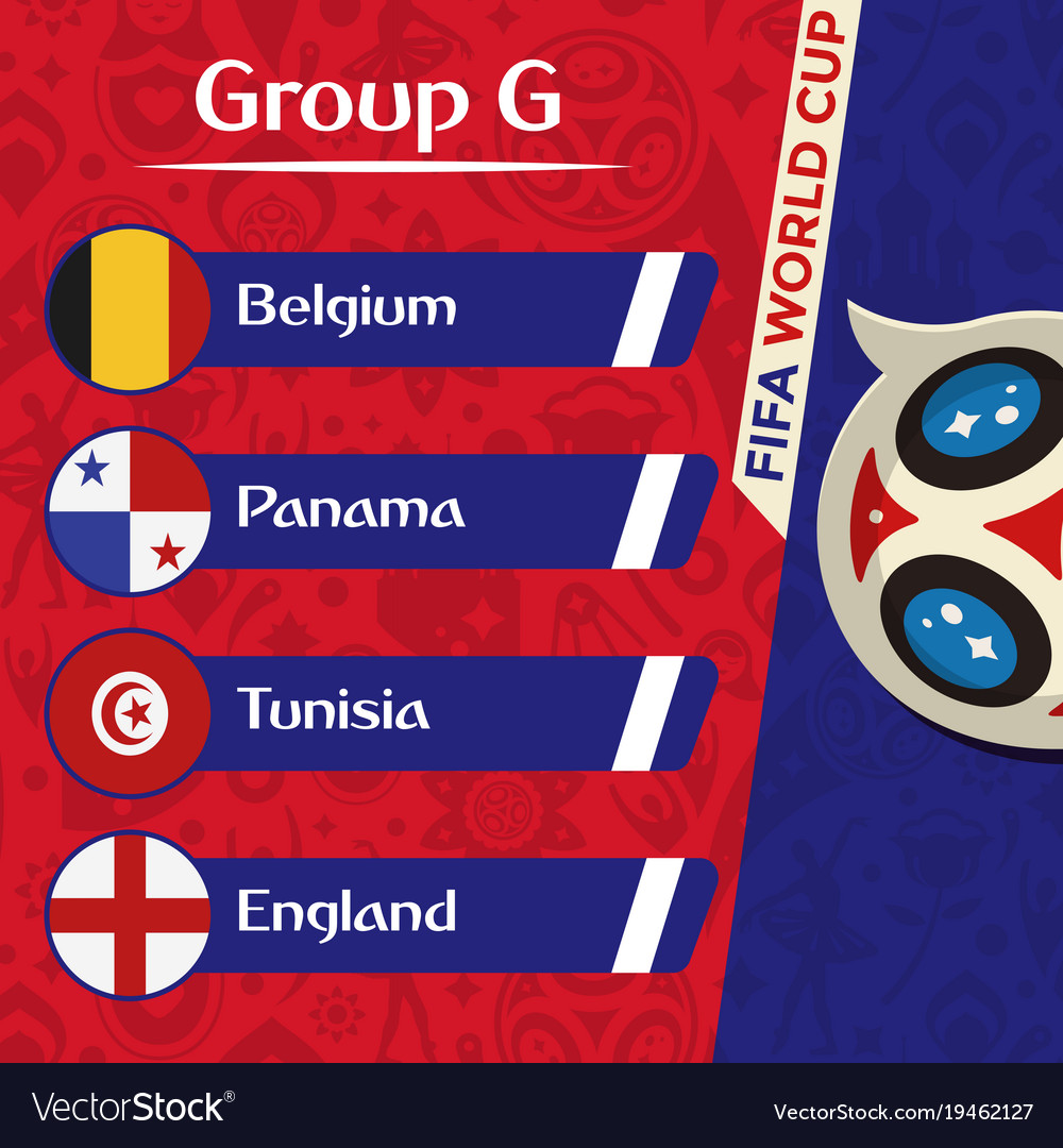 World cup 2018 group g team image