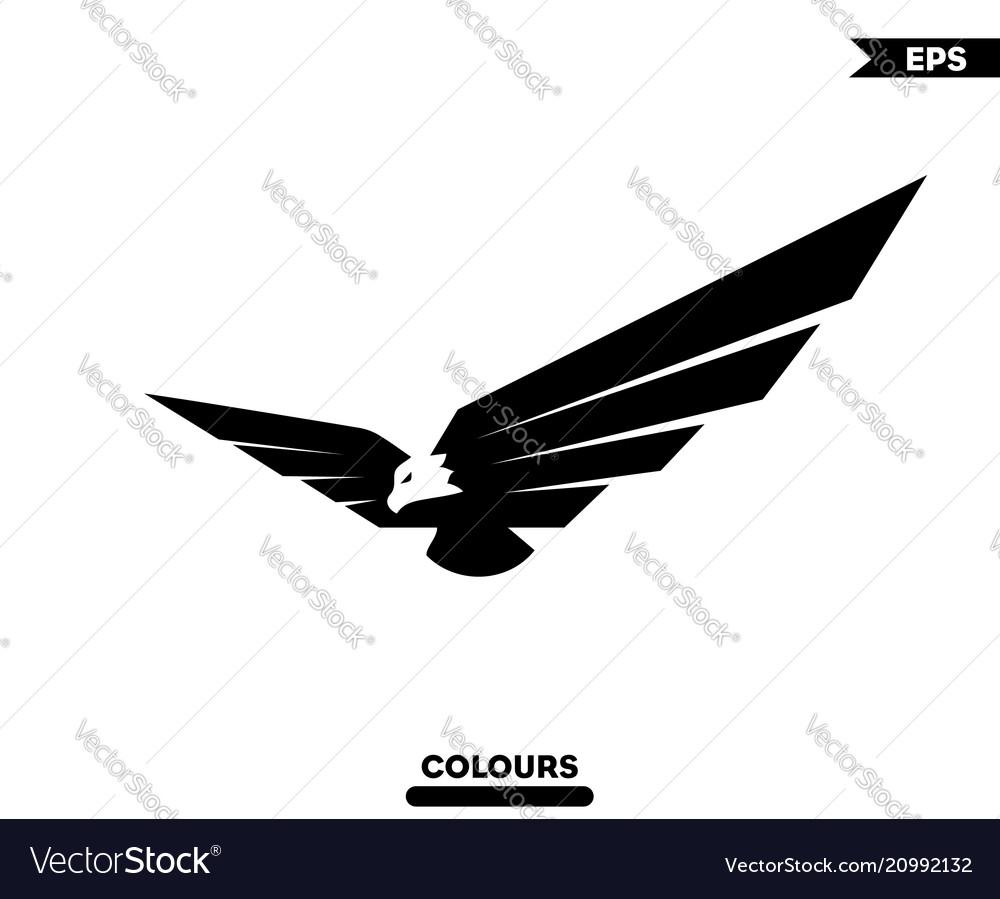 3d eagle logo royalty free vector image vectorstock