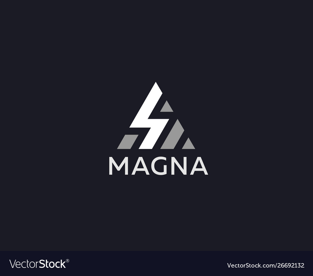 Abstract lightning triangle logo design energy