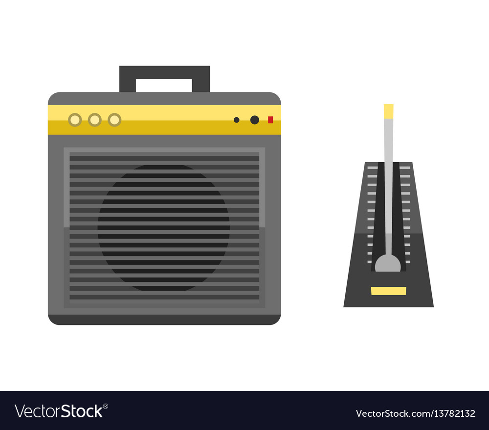 Acoustic musical speaker audio equipment musical vector image