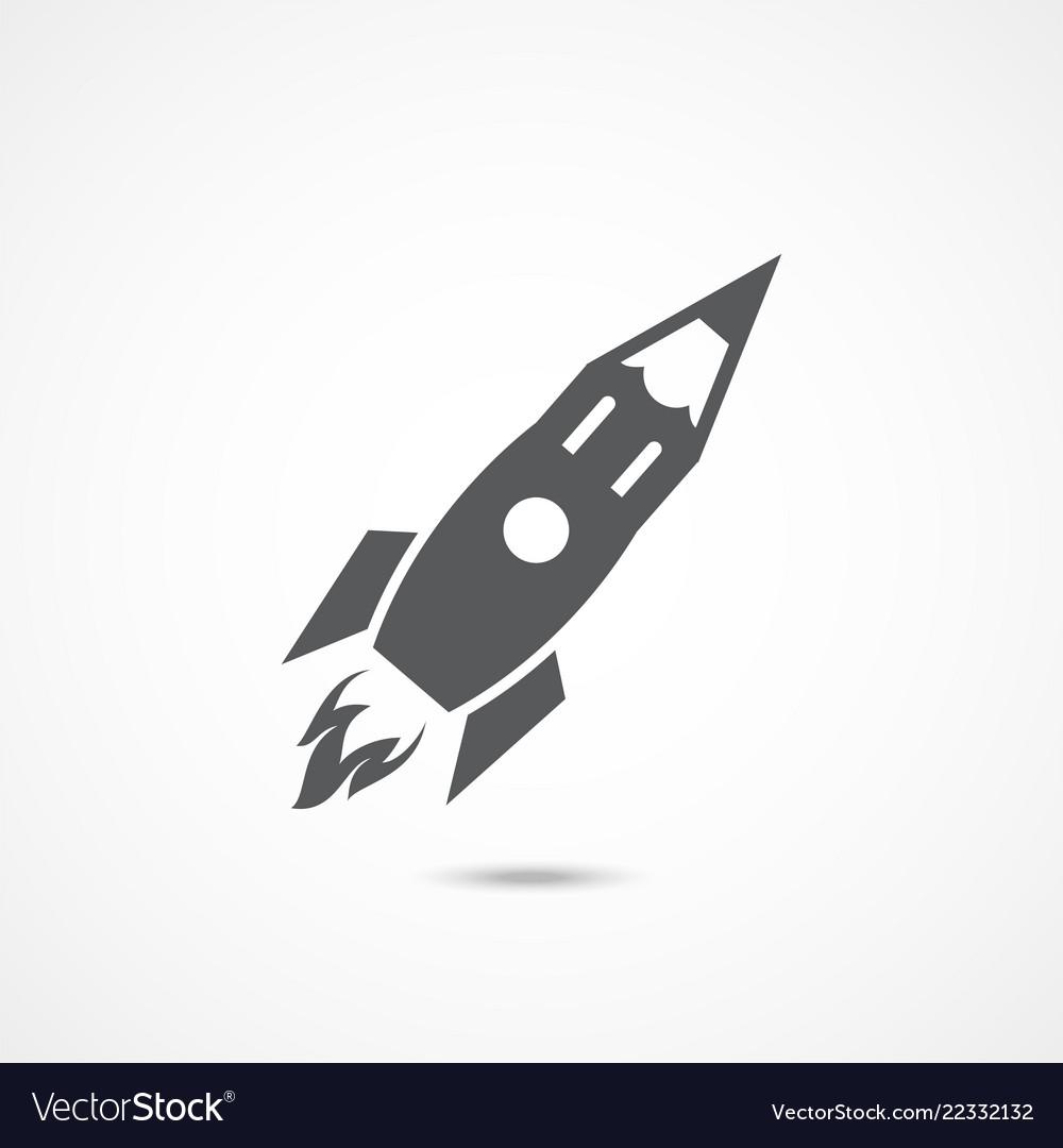 Creative pencil rocket icon