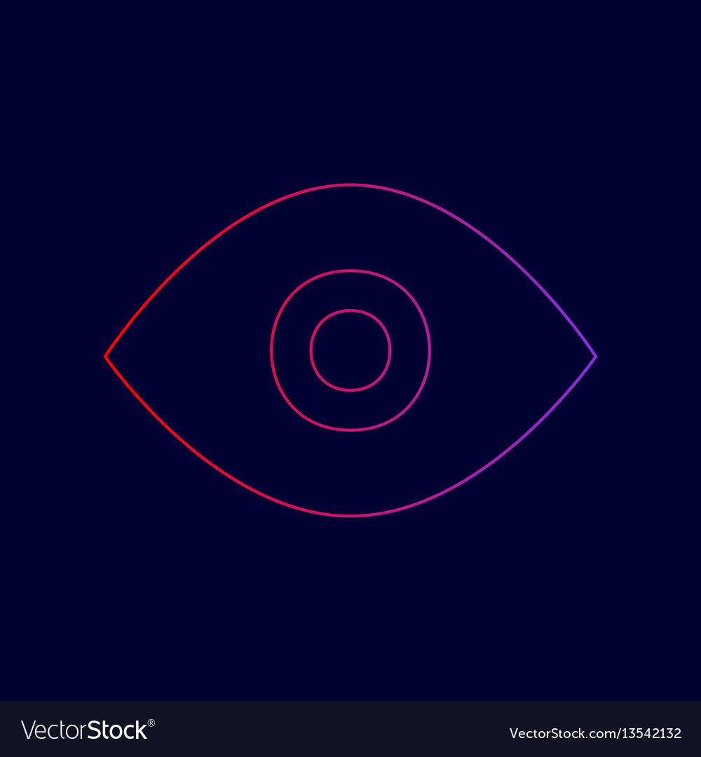 Eye sign line icon with