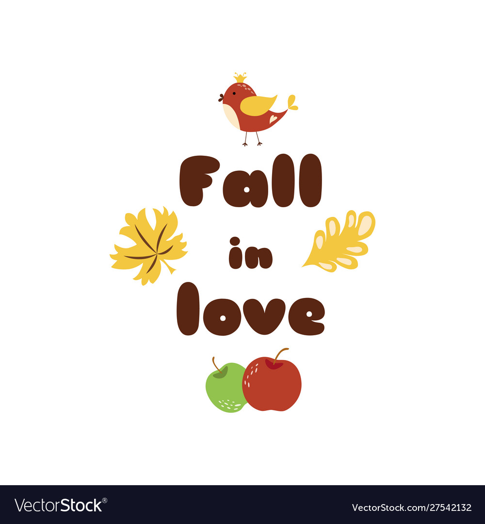 Fall in love autumn quotes text pharses prints