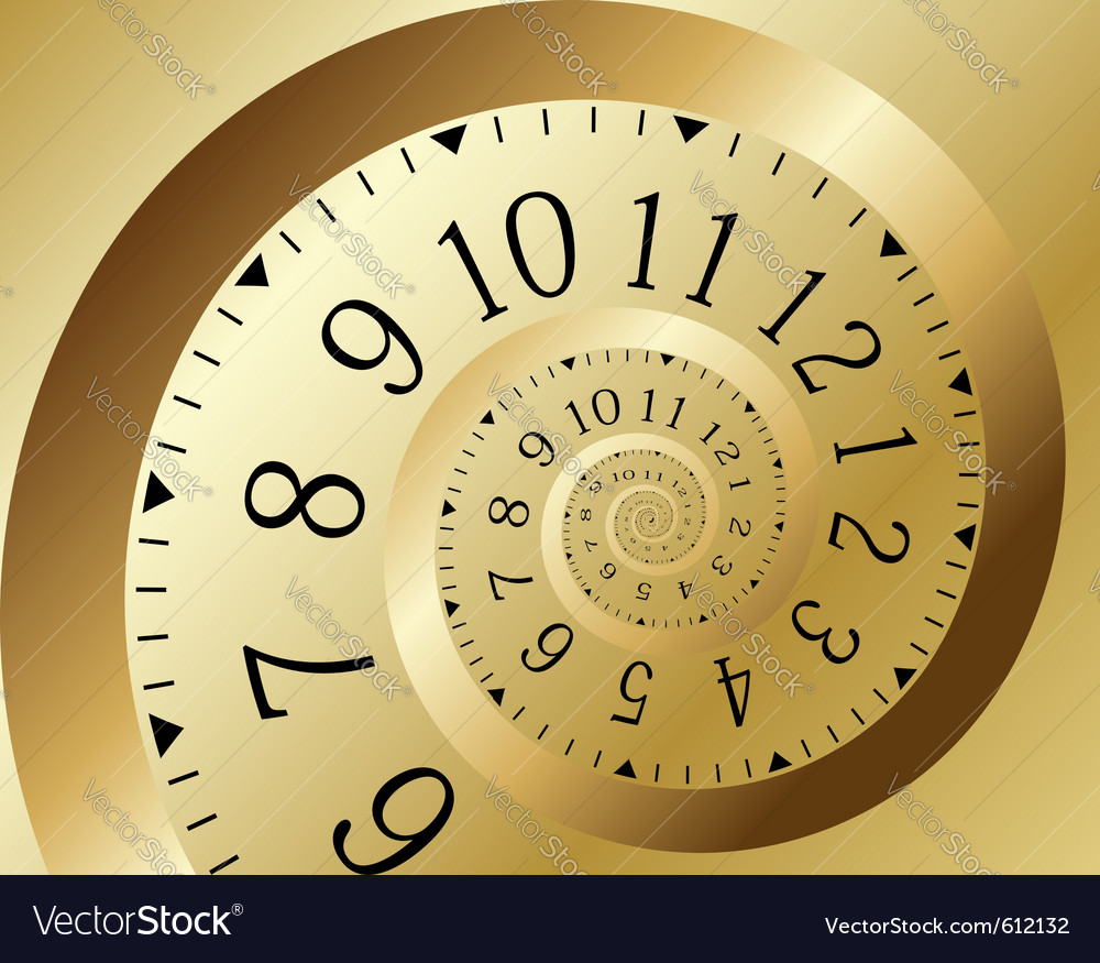 Infinity time vector image