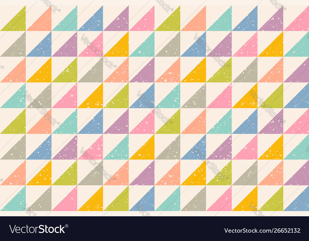 Pattern with grunge abstract triangles