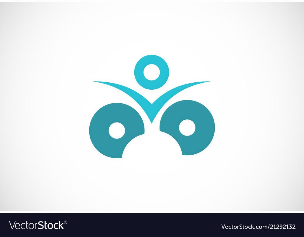 Round success people logo