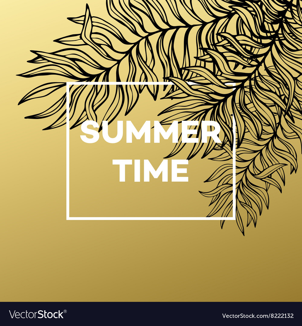 Summer tropical background of palm leaves and