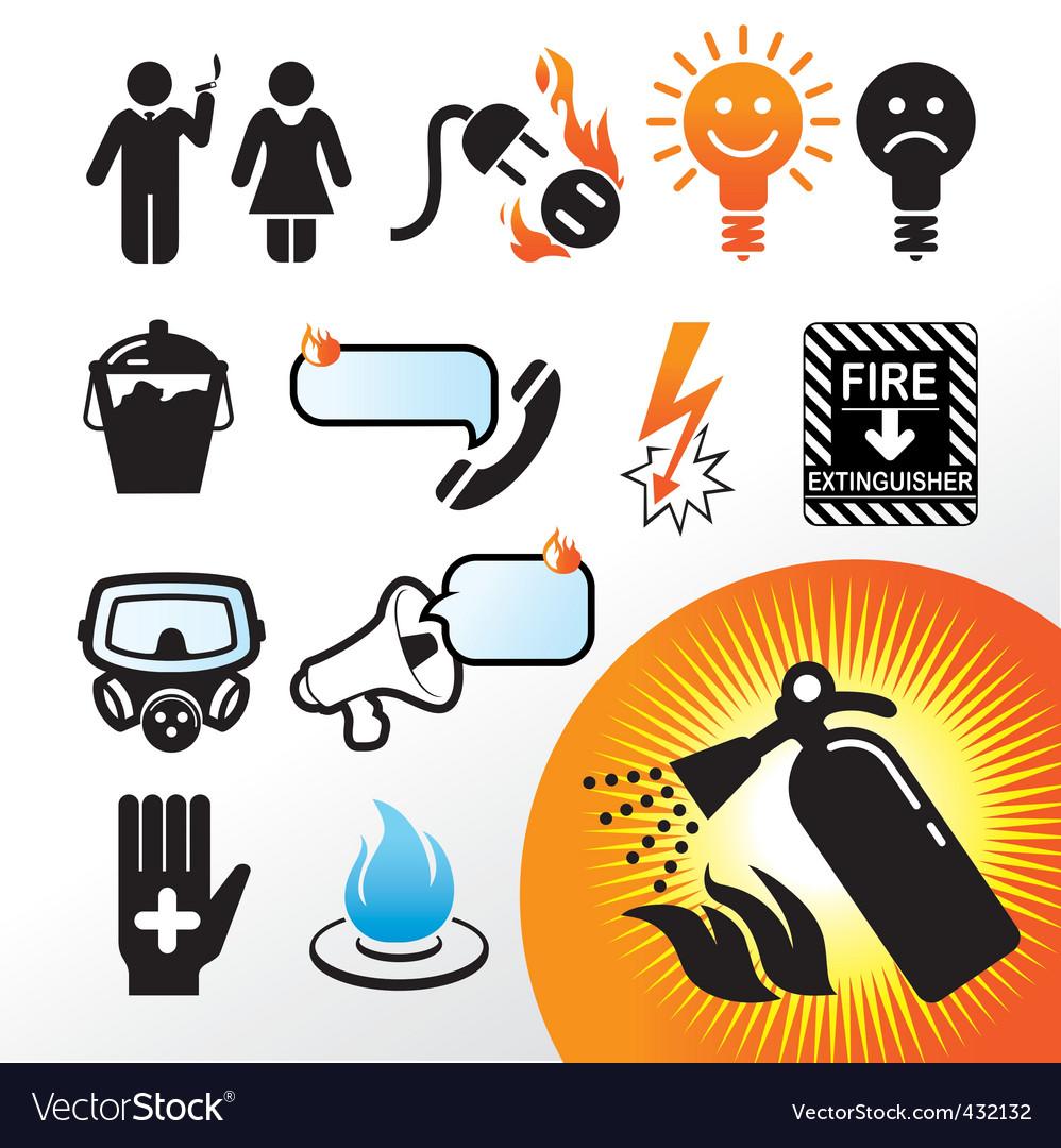 Symbol extinguisher vector image