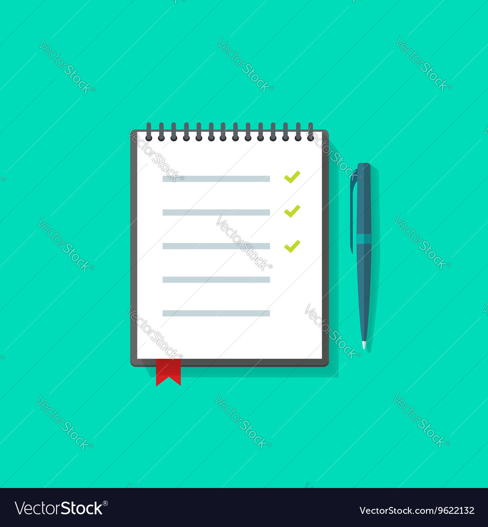 To do list notebook checklist icon