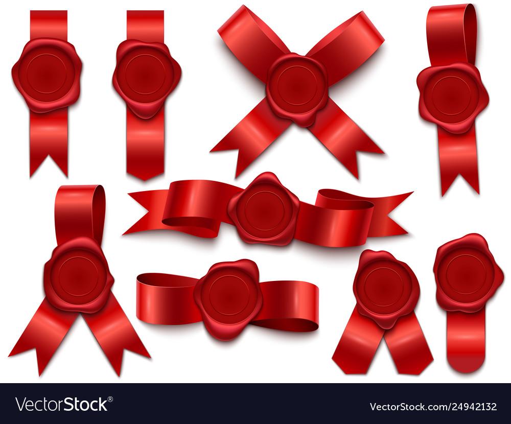 Wax seal ribbon wax stamps on ribbons royal mail