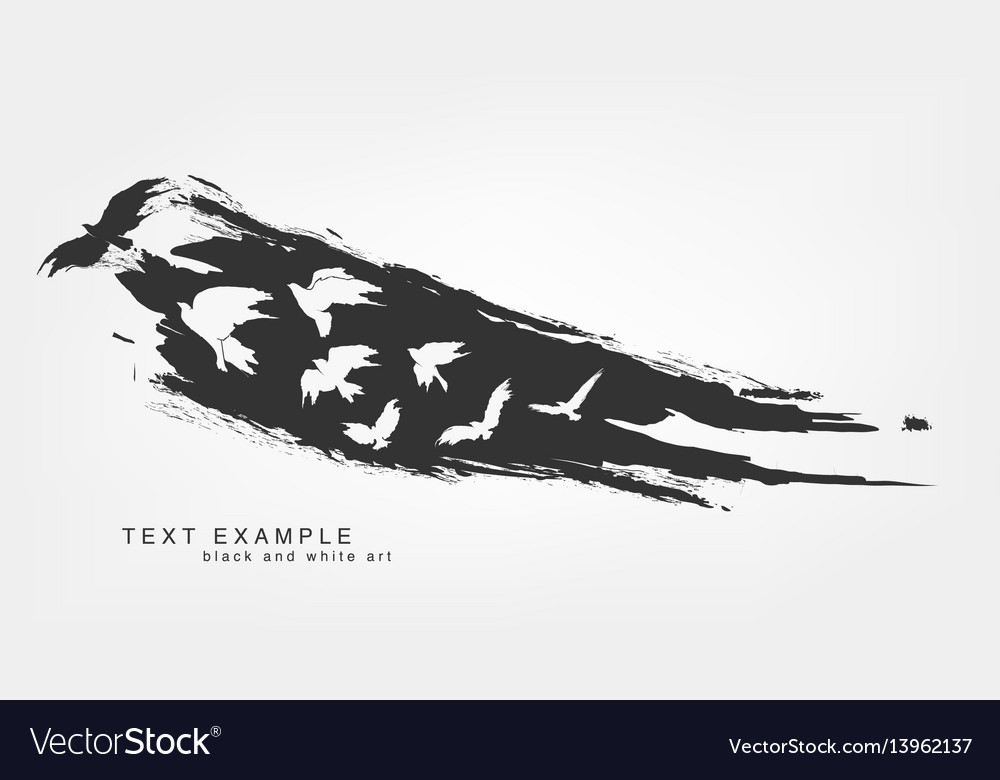 Abstract isolated line and brushstroke texture vector image