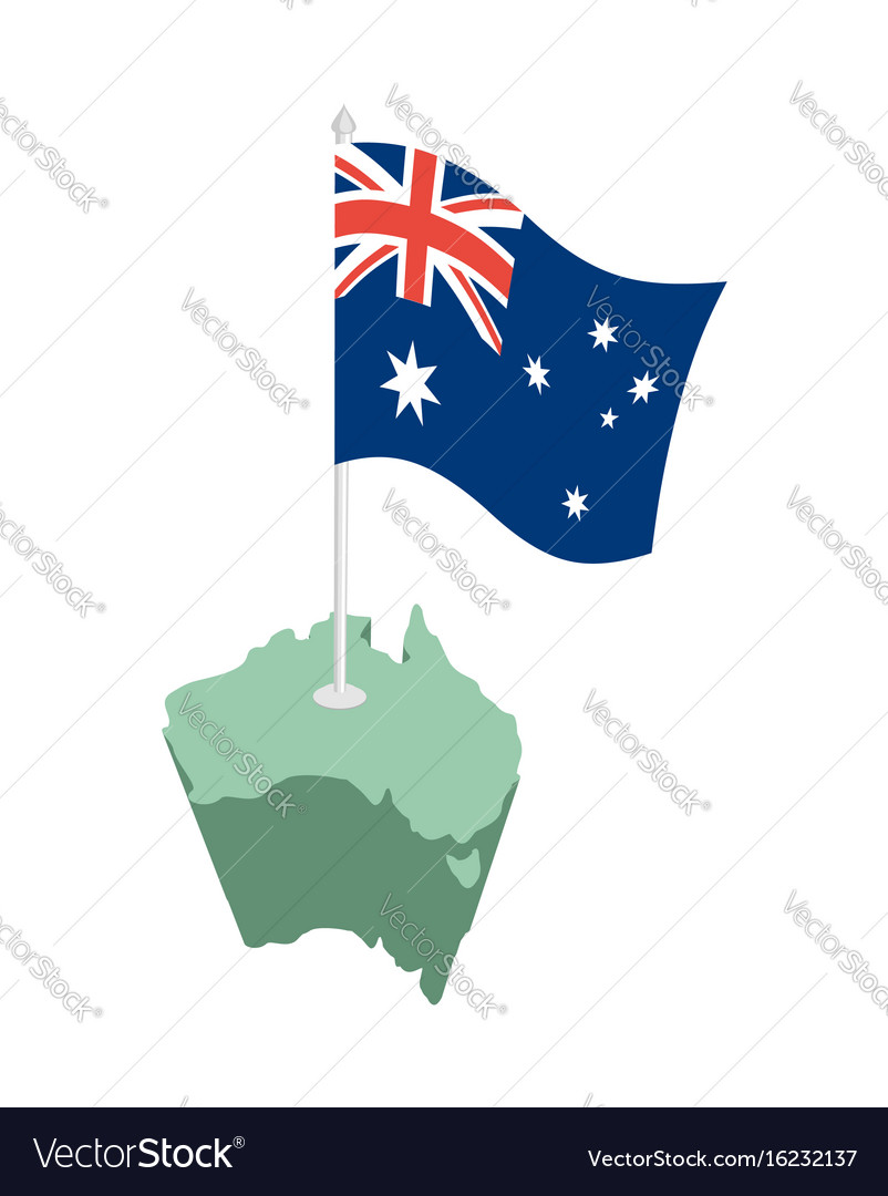 Australia Map And Flag.Australia Map And Flag Australian Resource And