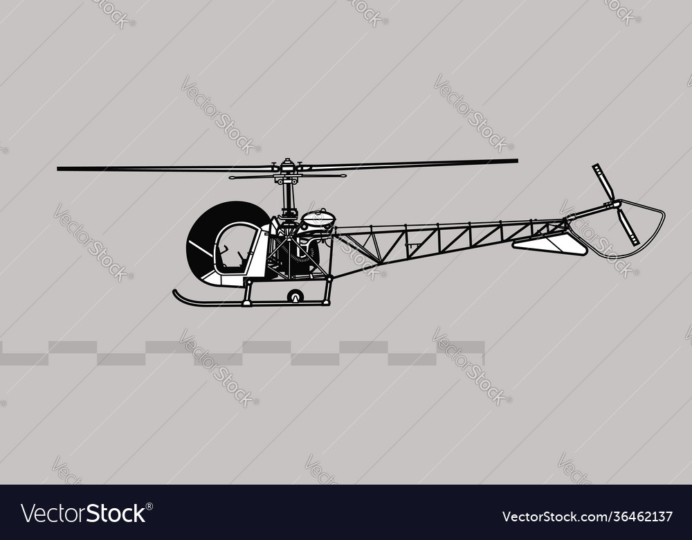 Bell h-13 sioux light observation helicopter