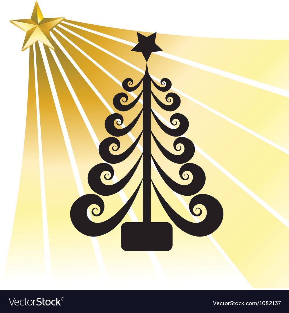 Christmas ball swirl design vector image