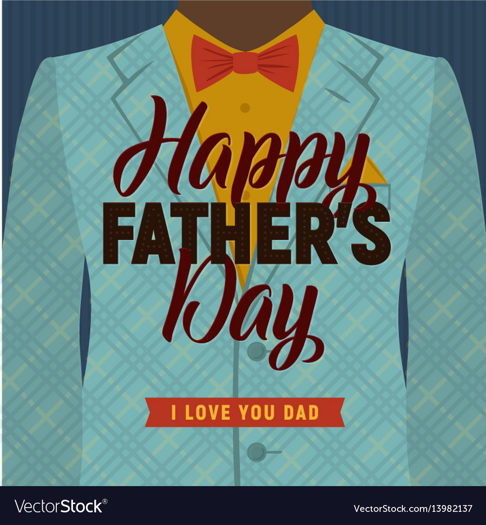 Father s day greeting card retro style