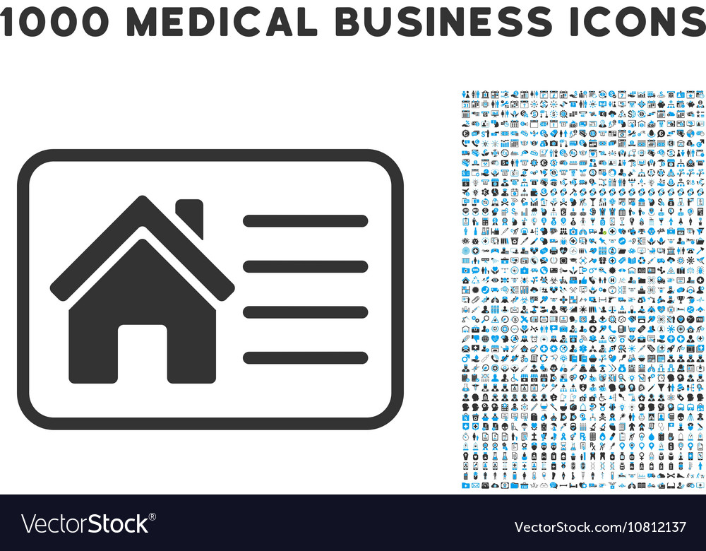 House Info Card Icon with 1000 Medical Business