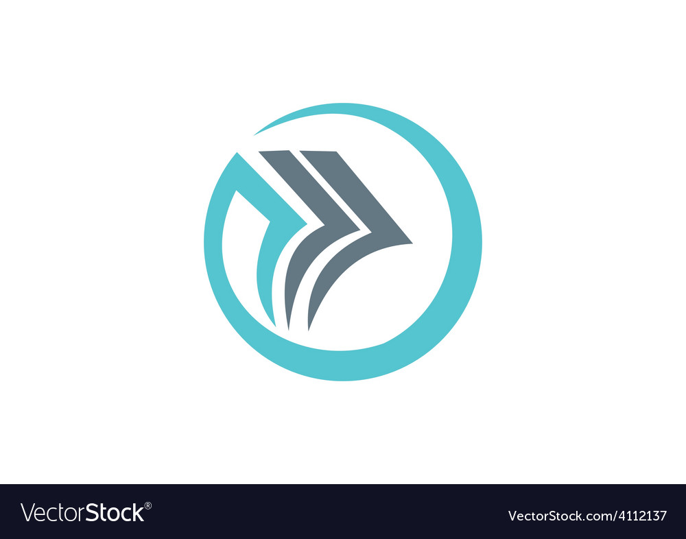 Paper round abstract business logo