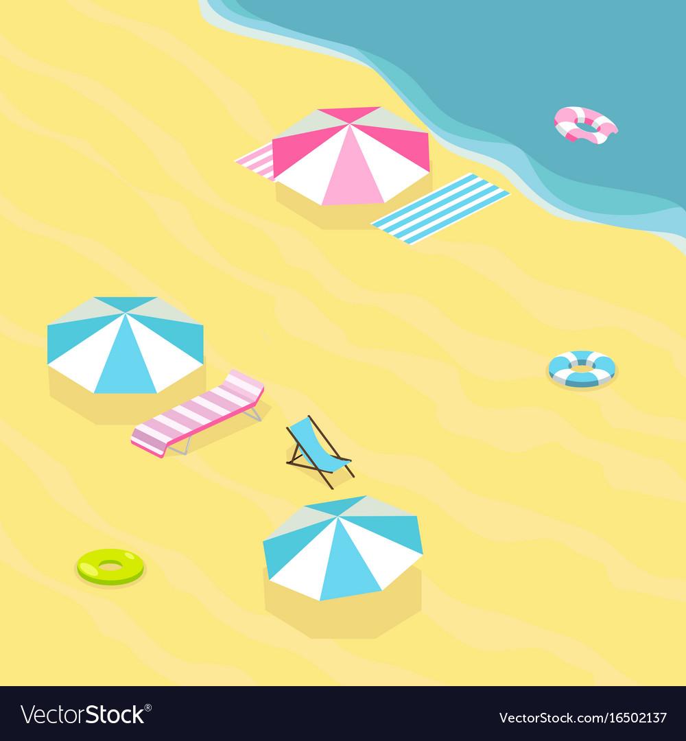 Sea beach isometric