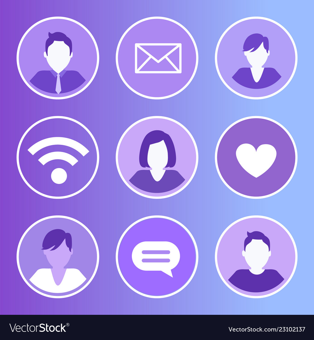 Social network message icons