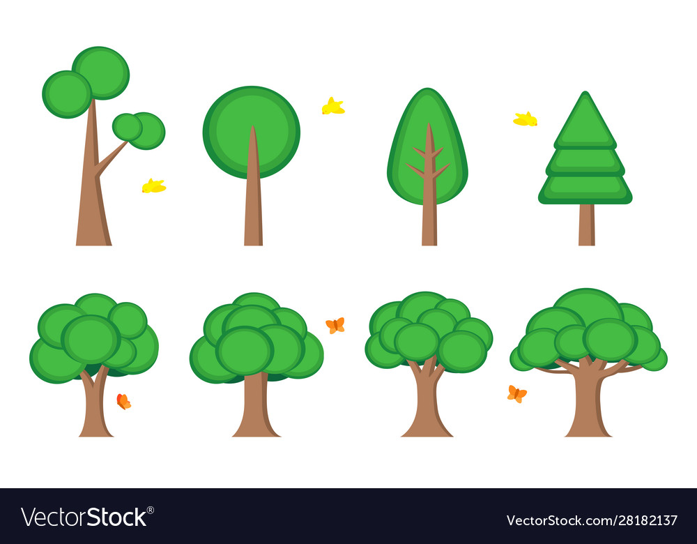Tree symbol icon element web game presentation