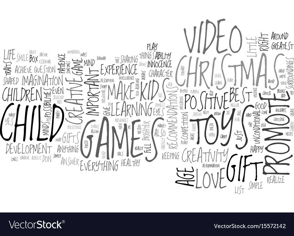Are toys video games the right christmas gifts Vector Image