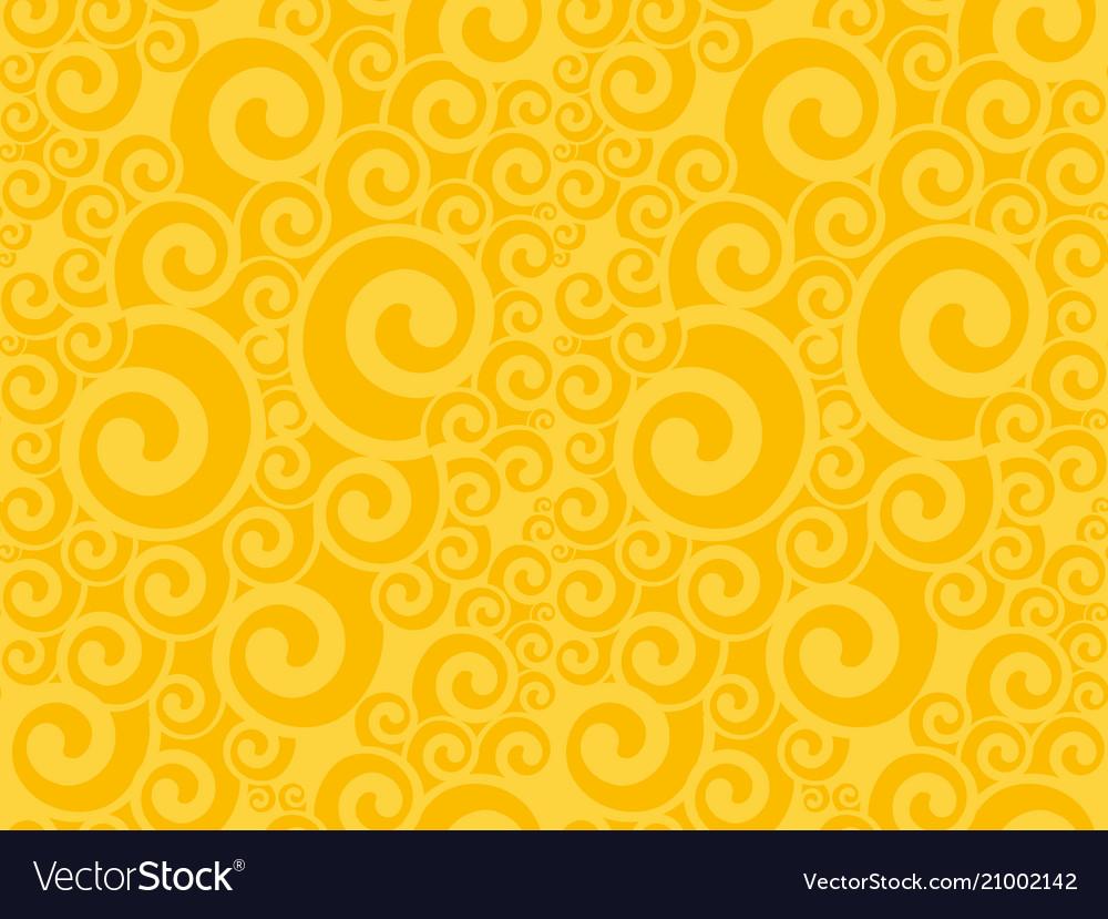 Art nouveau swirl seamless pattern vector image