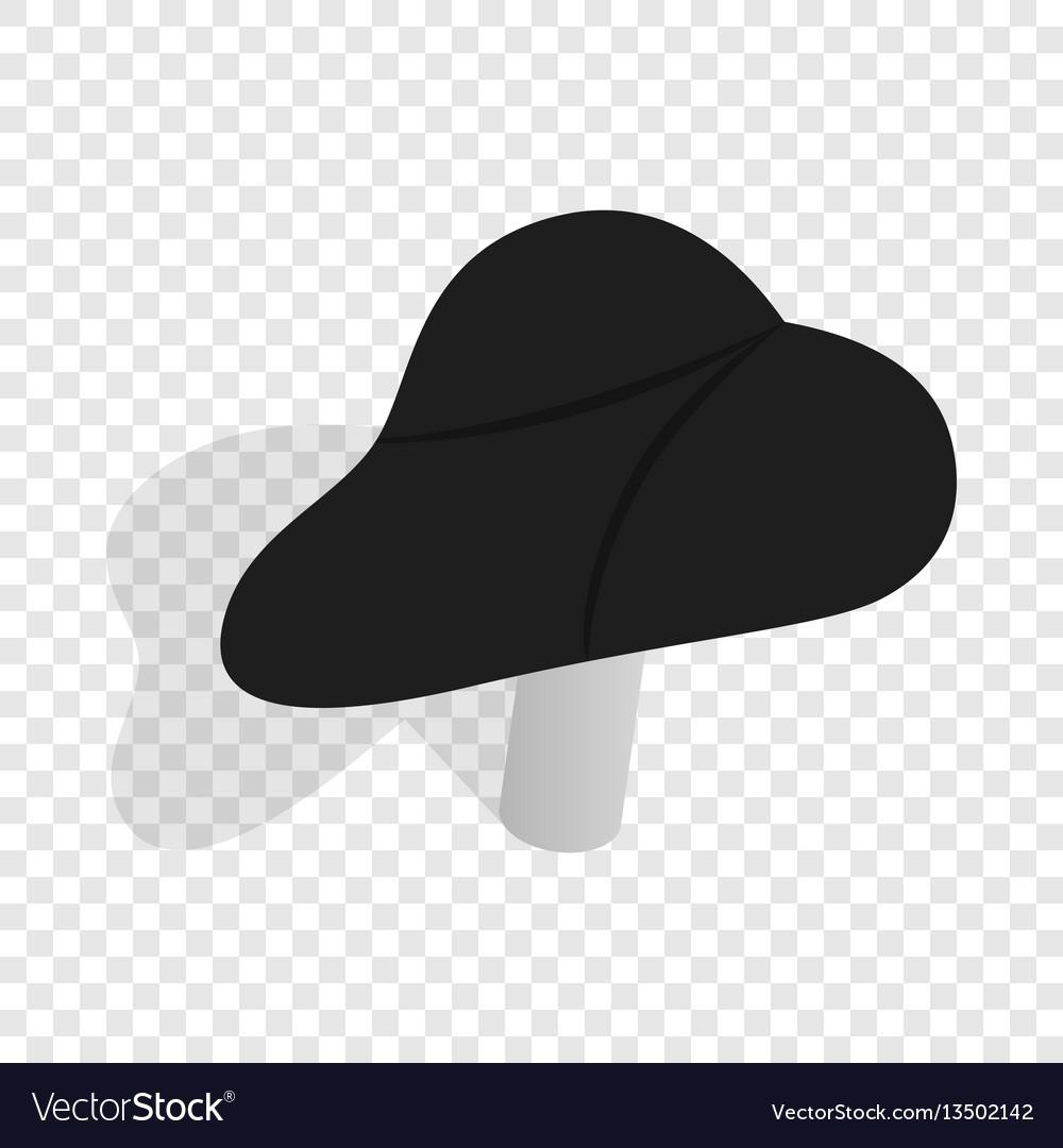 Black bicycle seat isometric icon