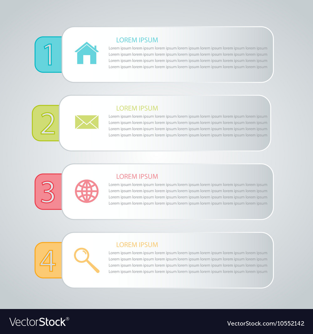 business infographics tabs template for presentati